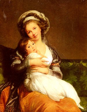 Madame-Vigee-Lebrun-Et-Sa-Fille,-Jeanne-Lucie-Louise-Mrs-Vigee-Lebrun-And-Her-Daughter,-Jeanne-Lucie-Louise